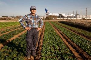Tomio Hagiwara (44) un fermier de Narita
